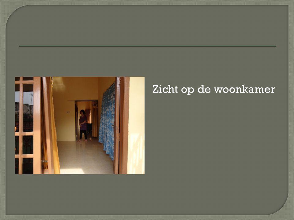 Zicht op de woonkamer