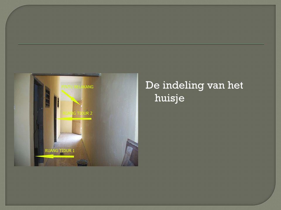 De indeling van het huisje