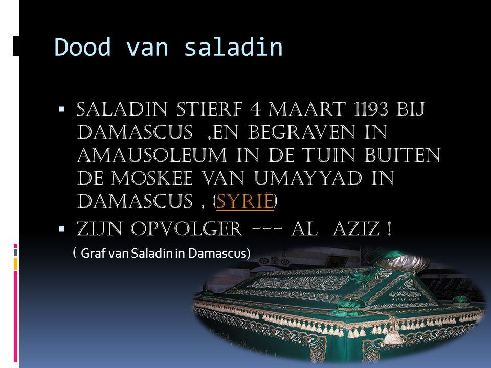 Dood van saladin