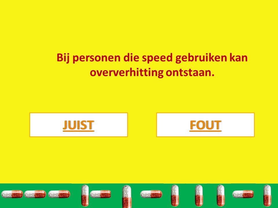 Bij personen die speed gebruiken kan oververhitting ontstaan.
