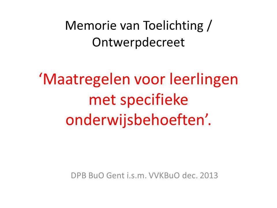 DPB BuO Gent i.s.m. VVKBuO dec. 2013