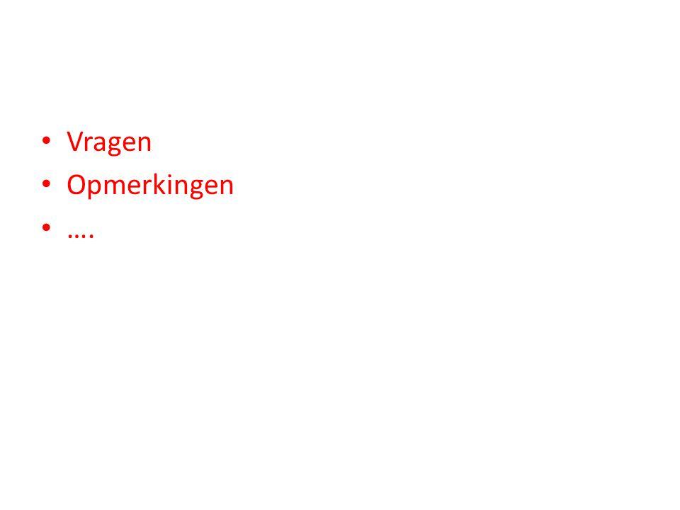 Vragen Opmerkingen ….