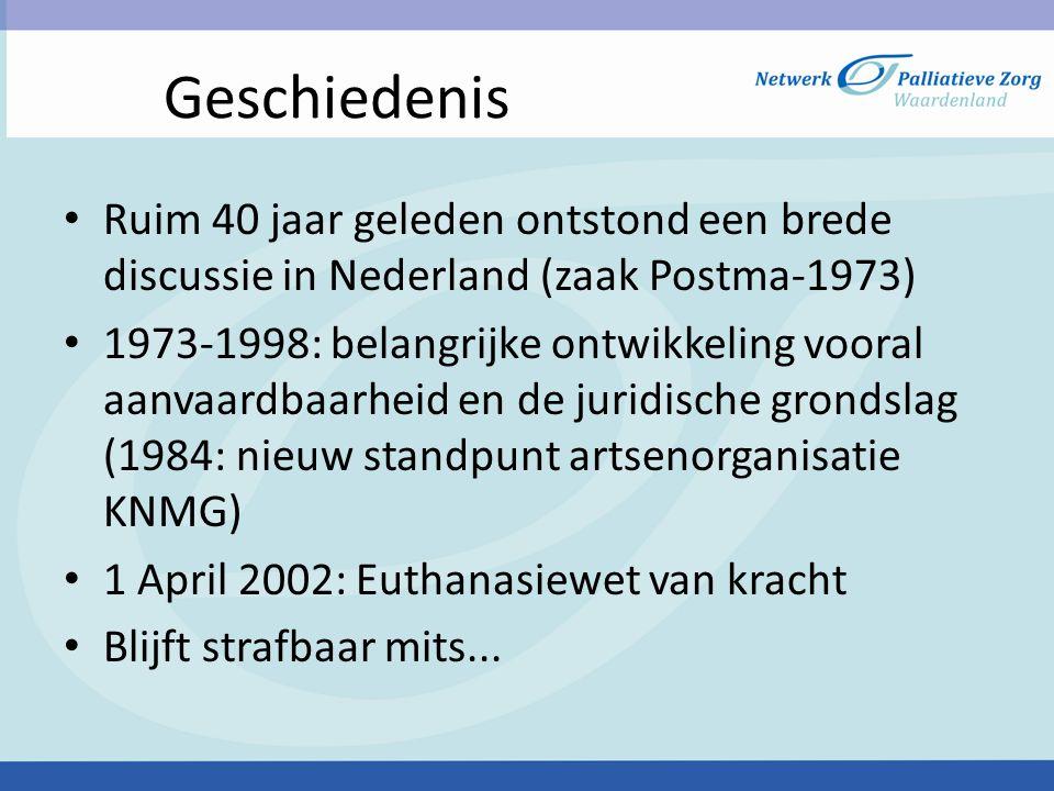 Geschiedenis Ruim 40 jaar geleden ontstond een brede discussie in Nederland (zaak Postma-1973)
