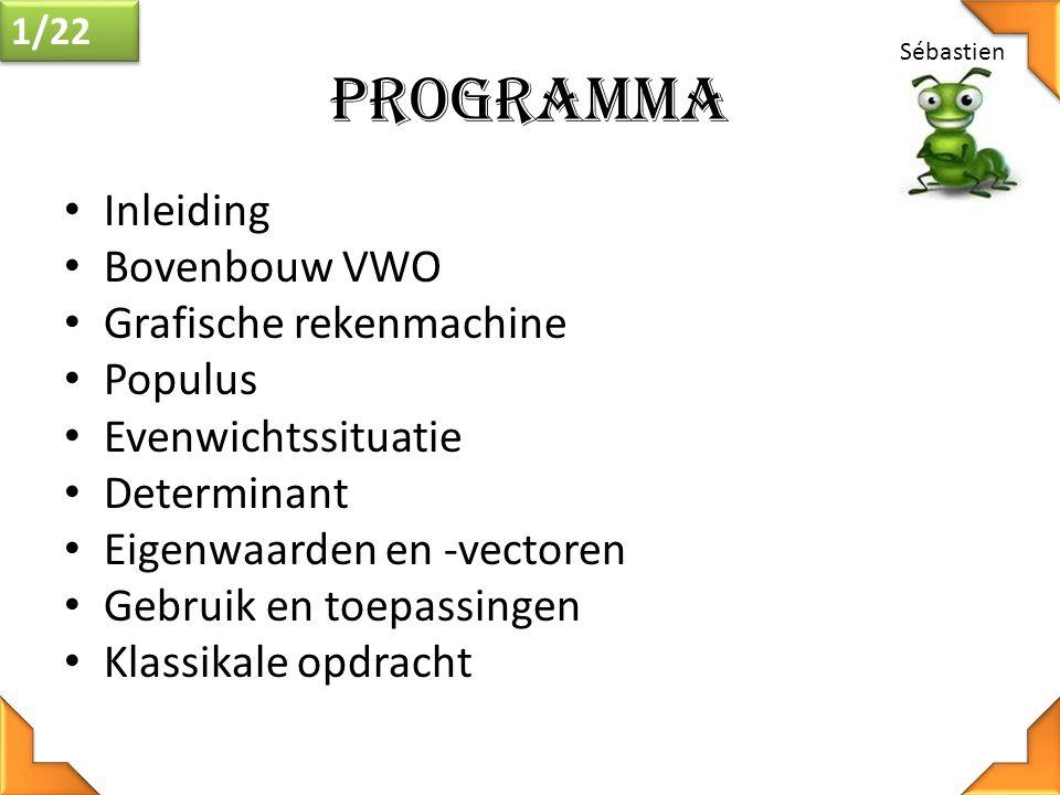 Programma Inleiding Bovenbouw VWO Grafische rekenmachine Populus