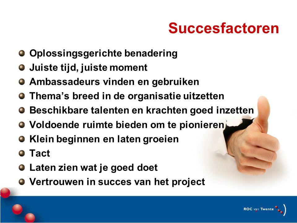 Succesfactoren Oplossingsgerichte benadering