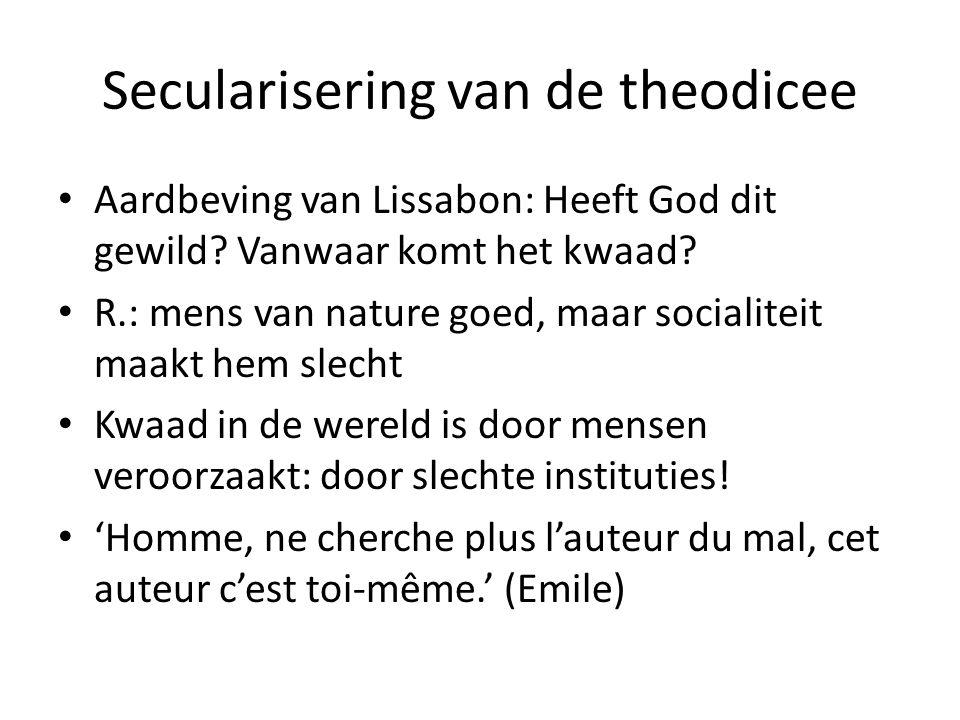 Secularisering van de theodicee