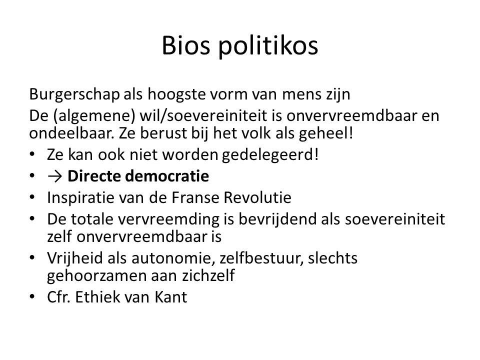 Bios politikos Burgerschap als hoogste vorm van mens zijn