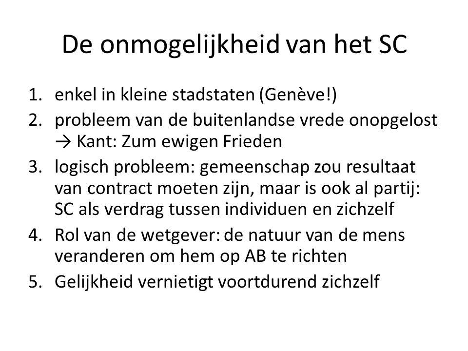 De onmogelijkheid van het SC
