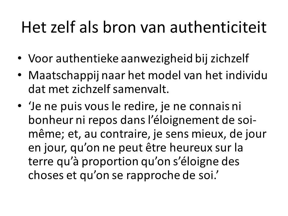 Het zelf als bron van authenticiteit