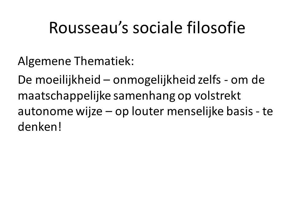 Rousseau's sociale filosofie