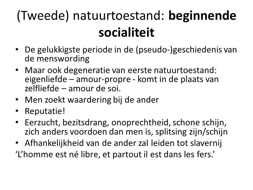 (Tweede) natuurtoestand: beginnende socialiteit
