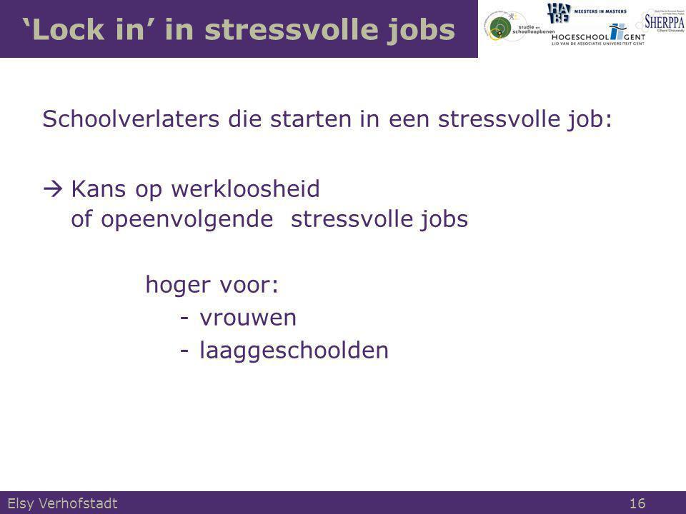 'Lock in' in stressvolle jobs