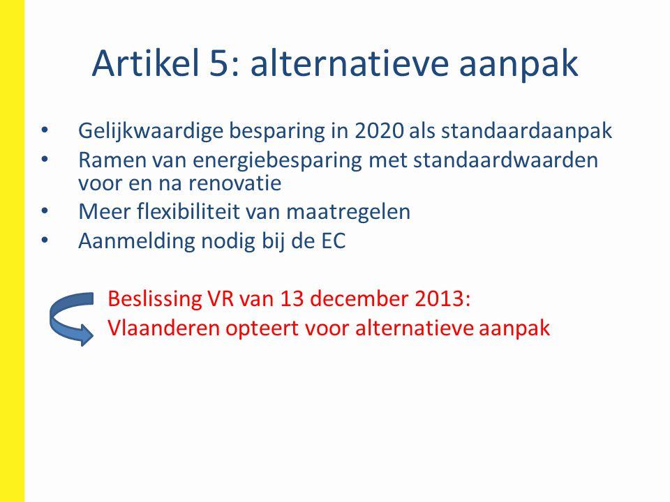 Artikel 5: alternatieve aanpak