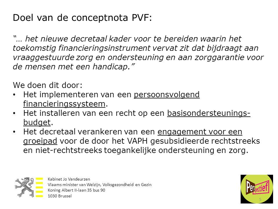 Doel van de conceptnota PVF: