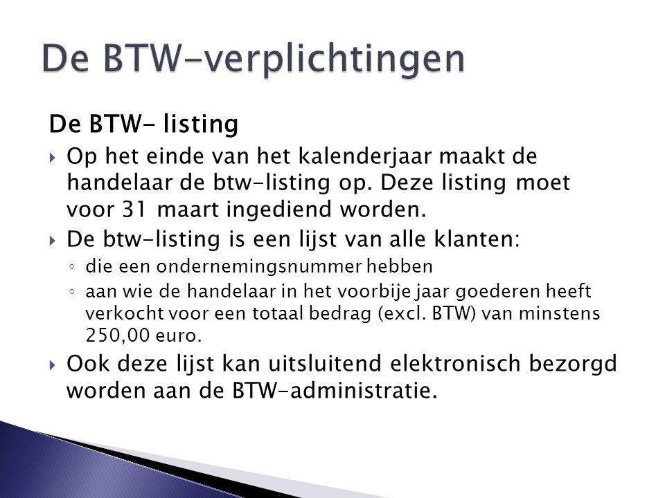 De BTW-verplichtingen