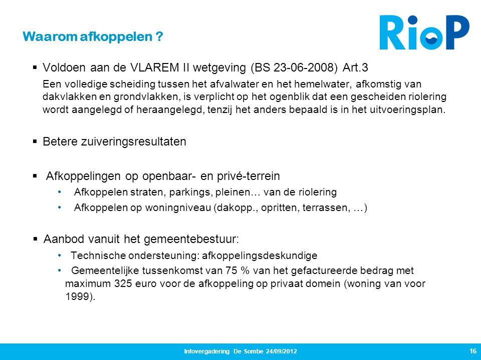Infovergadering De Sombe 24/09/2012