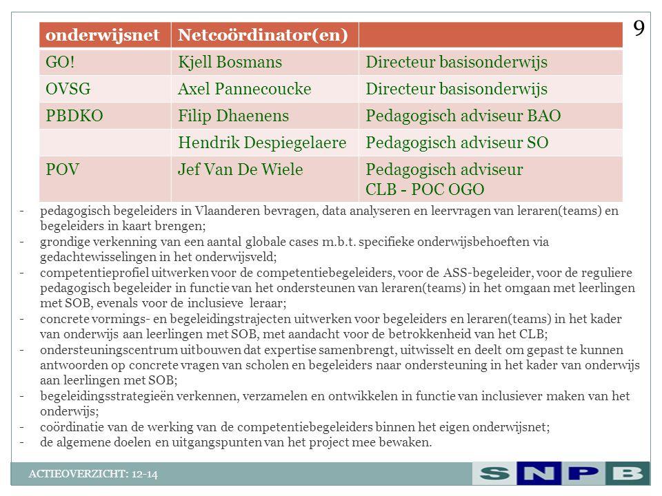 9 onderwijsnet Netcoördinator(en) GO! Kjell Bosmans