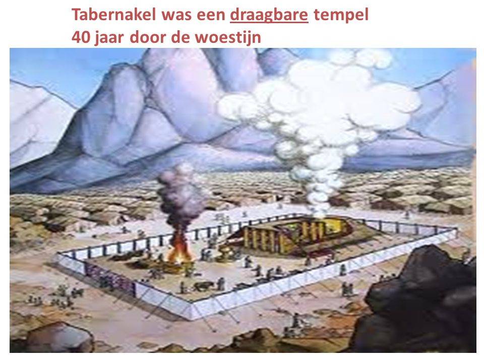 Tabernakel was een draagbare tempel 40 jaar door de woestijn