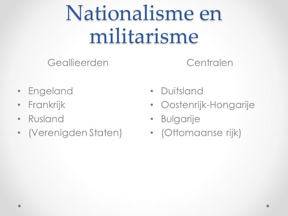 Nationalisme en militarisme