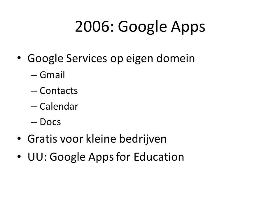 2006: Google Apps Google Services op eigen domein