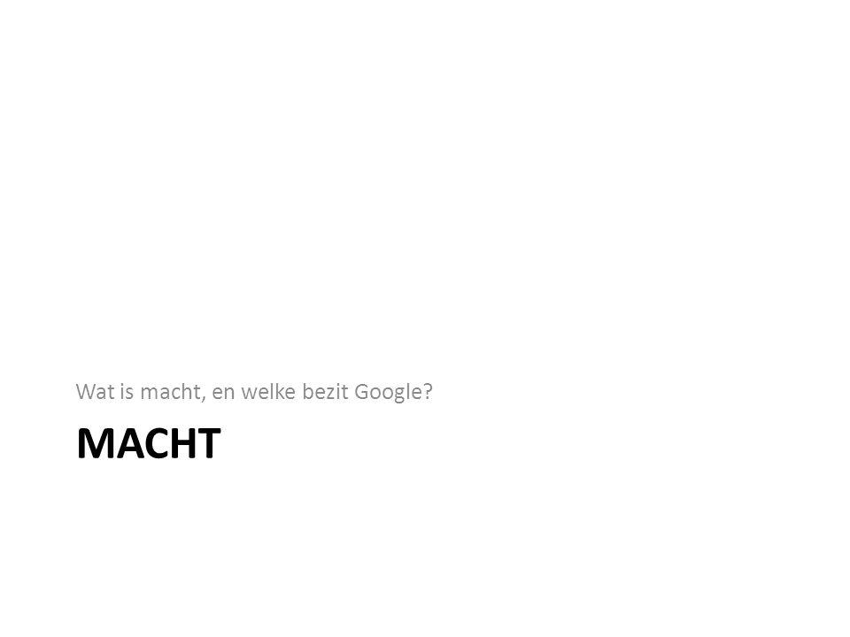 Wat is macht, en welke bezit Google