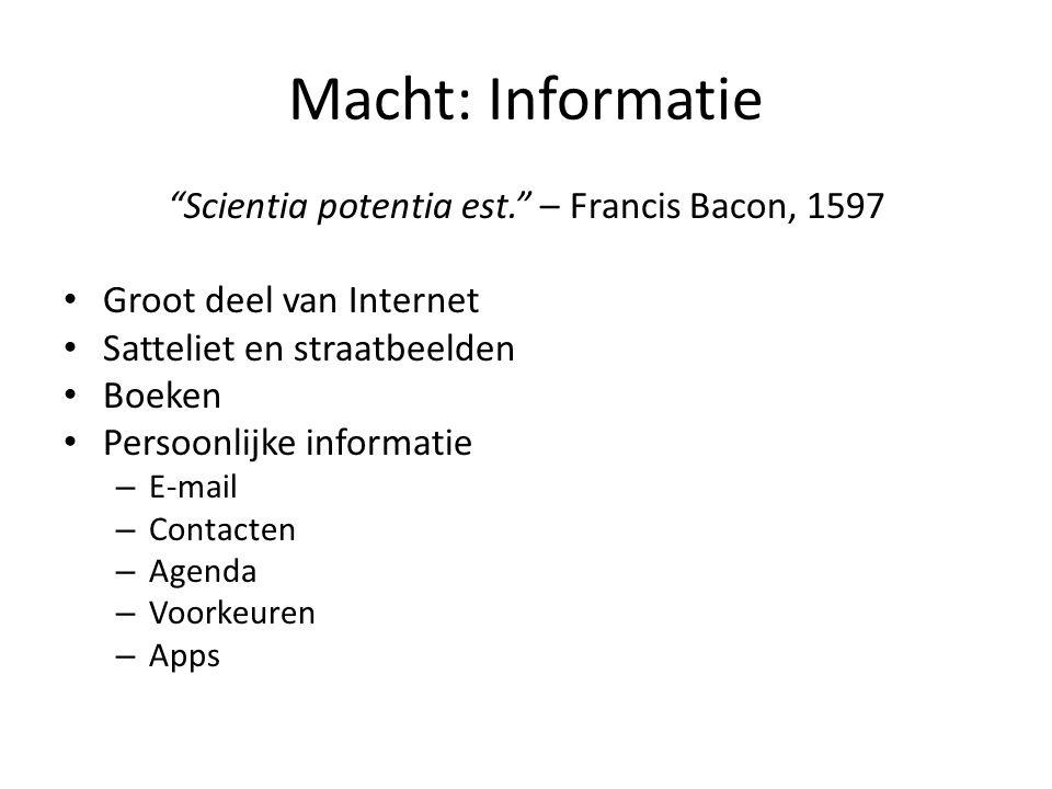 Scientia potentia est. – Francis Bacon, 1597