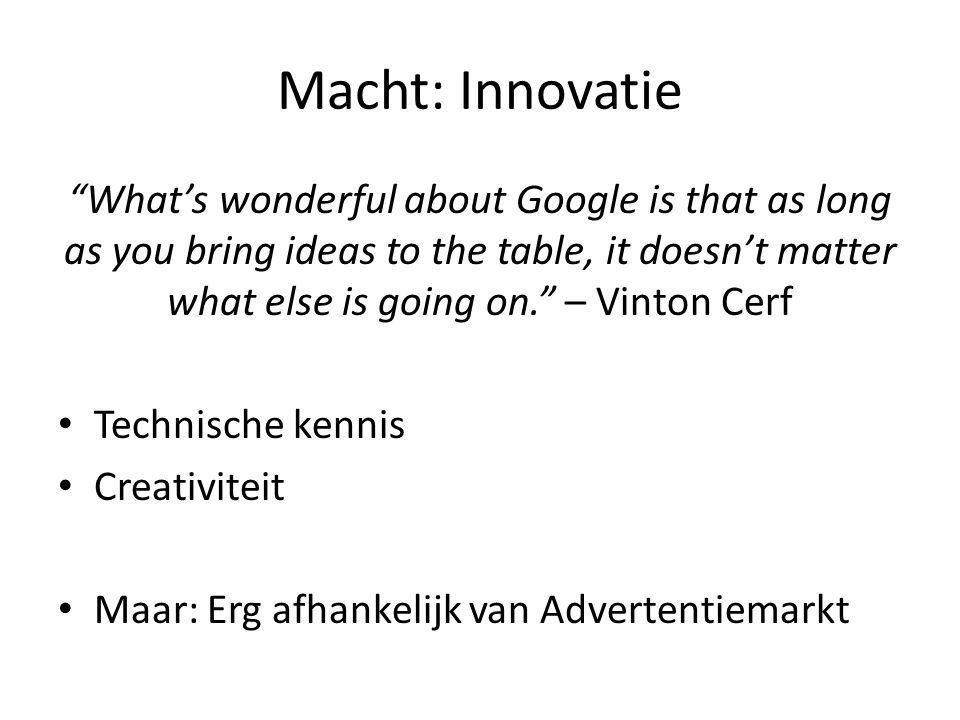 Macht: Innovatie