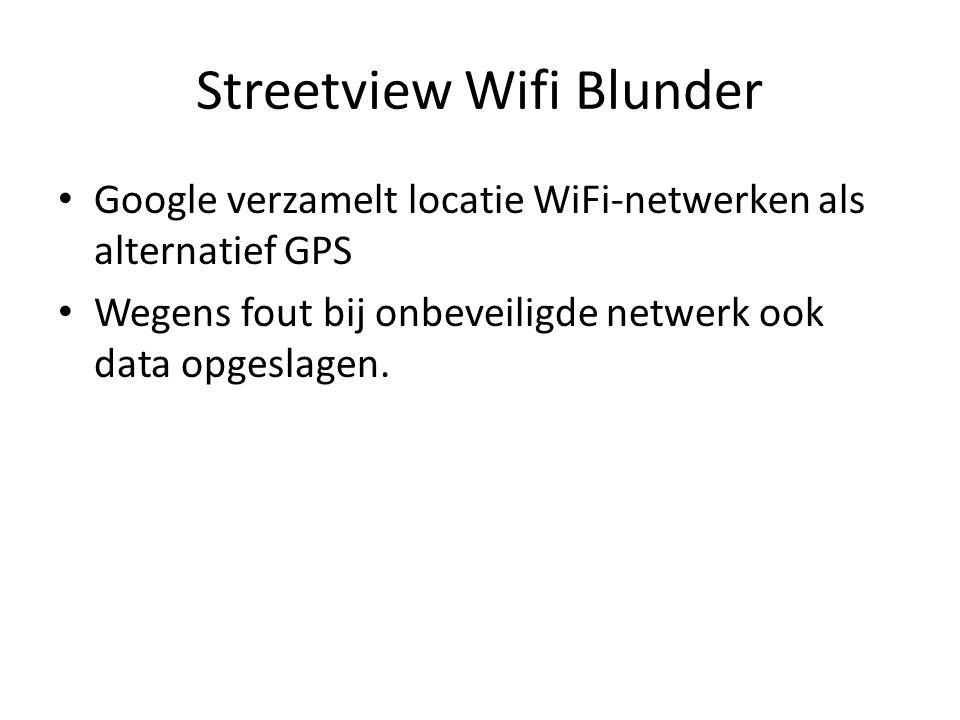 Streetview Wifi Blunder