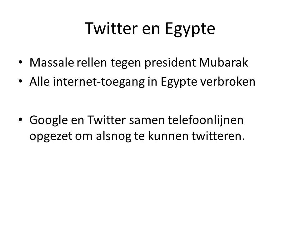 Twitter en Egypte Massale rellen tegen president Mubarak