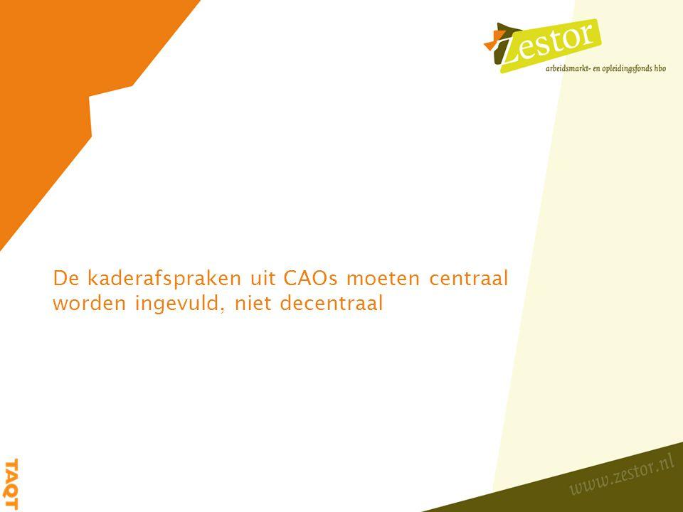 Samenwerking tussen hogescholen ondermijnt het decentrale karakter van de CAO