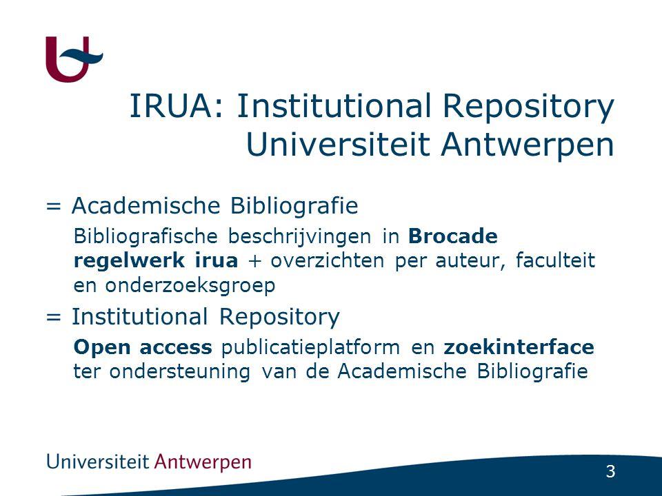 IRUA: Institutional Repository Universiteit Antwerpen