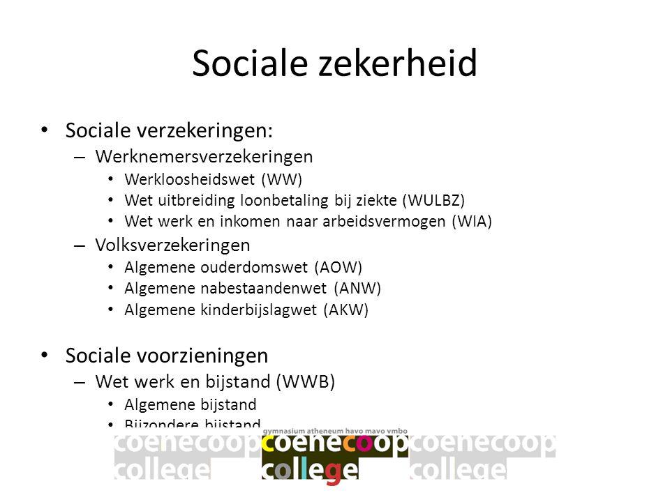 Sociale zekerheid Sociale verzekeringen: Sociale voorzieningen