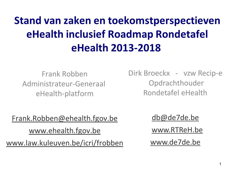 Frank Robben Administrateur-Generaal eHealth-platform