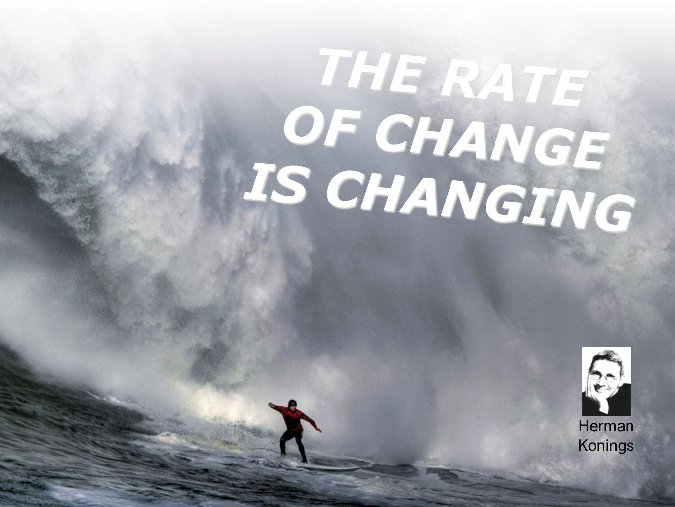 THE RATE OF CHANGE IS CHANGING