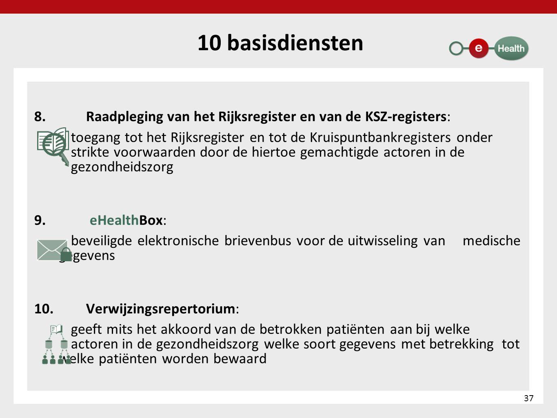 8. Raadpleging van het Rijksregister en van de KSZ-registers: