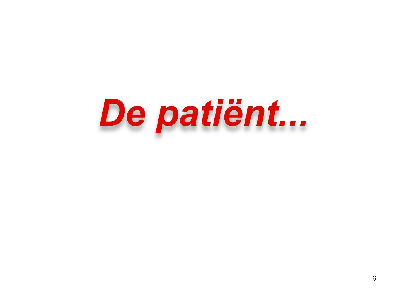 De patiënt...