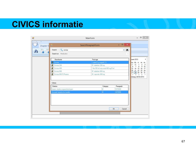 CIVICS informatie 15 67