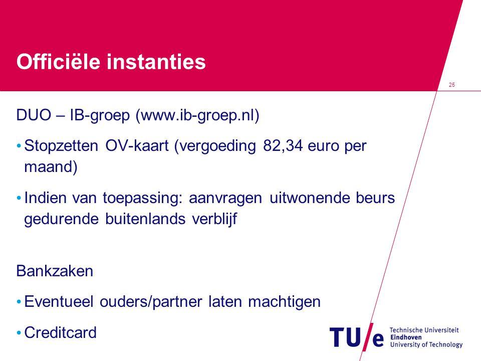 Officiële instanties DUO – IB-groep (www.ib-groep.nl)