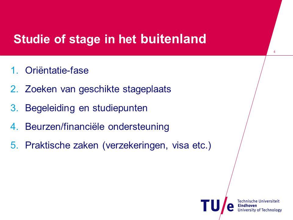 Studie of stage in het buitenland