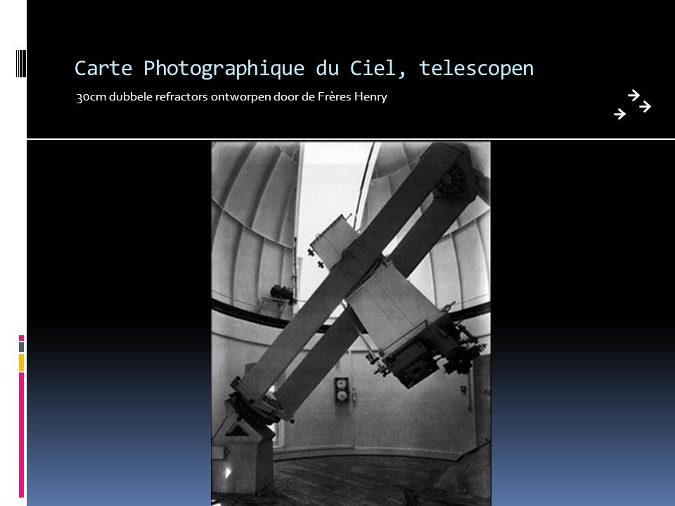 Carte Photographique du Ciel, telescopen