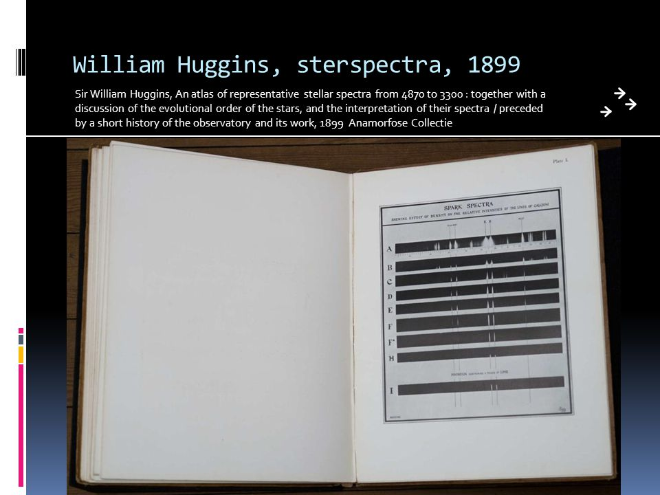 William Huggins, sterspectra, 1899