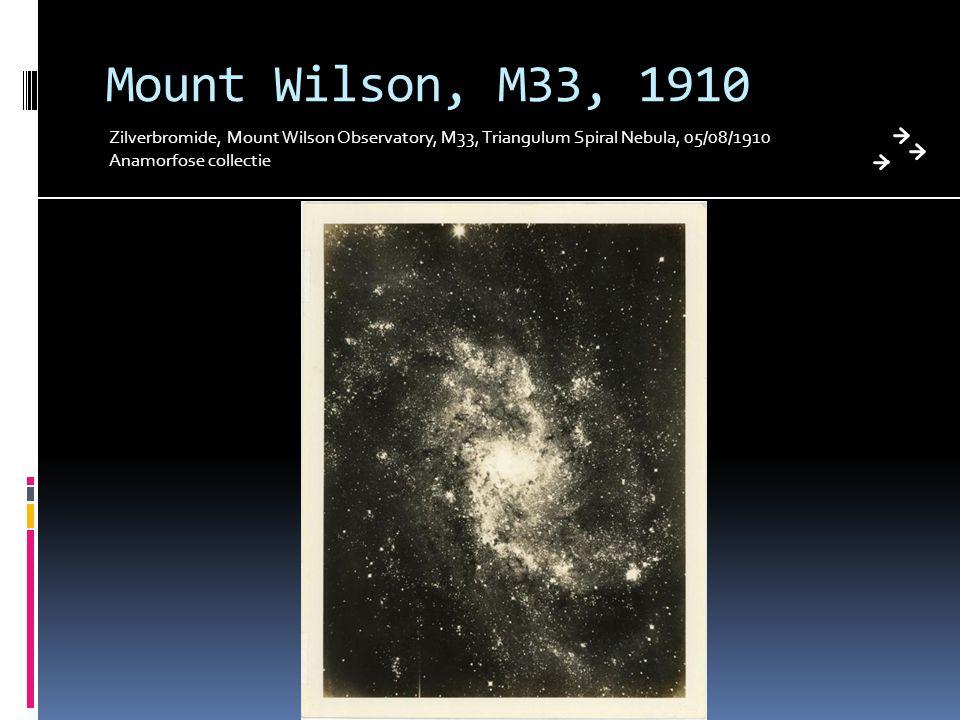 Mount Wilson, M33, 1910 Zilverbromide, Mount Wilson Observatory, M33, Triangulum Spiral Nebula, 05/08/1910.