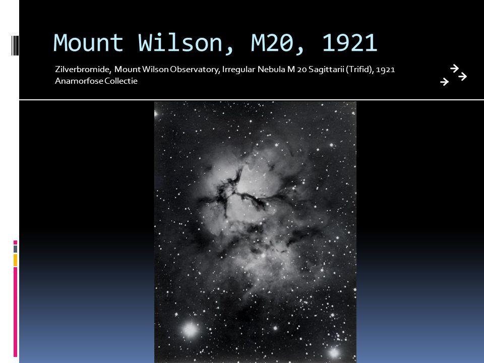 Mount Wilson, M20, 1921 Zilverbromide, Mount Wilson Observatory, Irregular Nebula M 20 Sagittarii (Trifid), 1921.