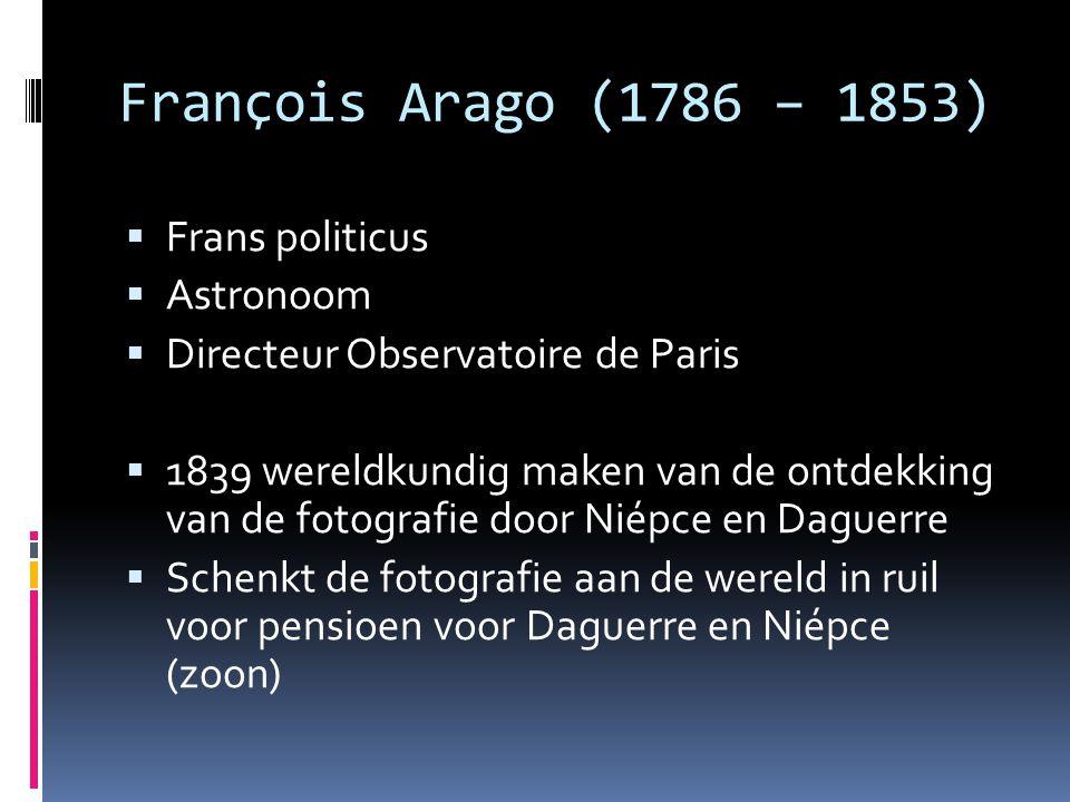 François Arago (1786 – 1853) Frans politicus Astronoom