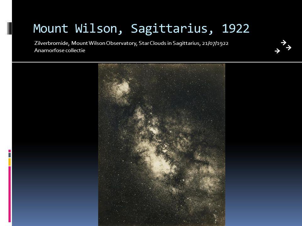Mount Wilson, Sagittarius, 1922
