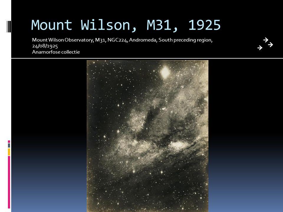 Mount Wilson, M31, 1925 Mount Wilson Observatory, M31, NGC224, Andromeda, South preceding region, 24/08/1925.