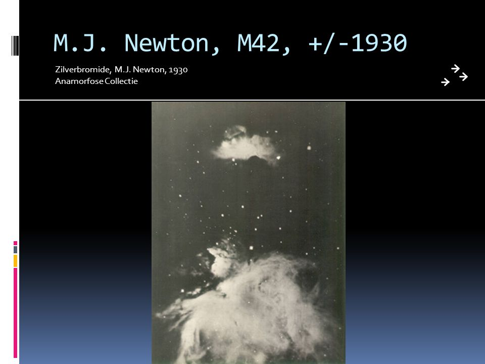 M.J. Newton, M42, +/-1930 Zilverbromide, M.J. Newton, 1930