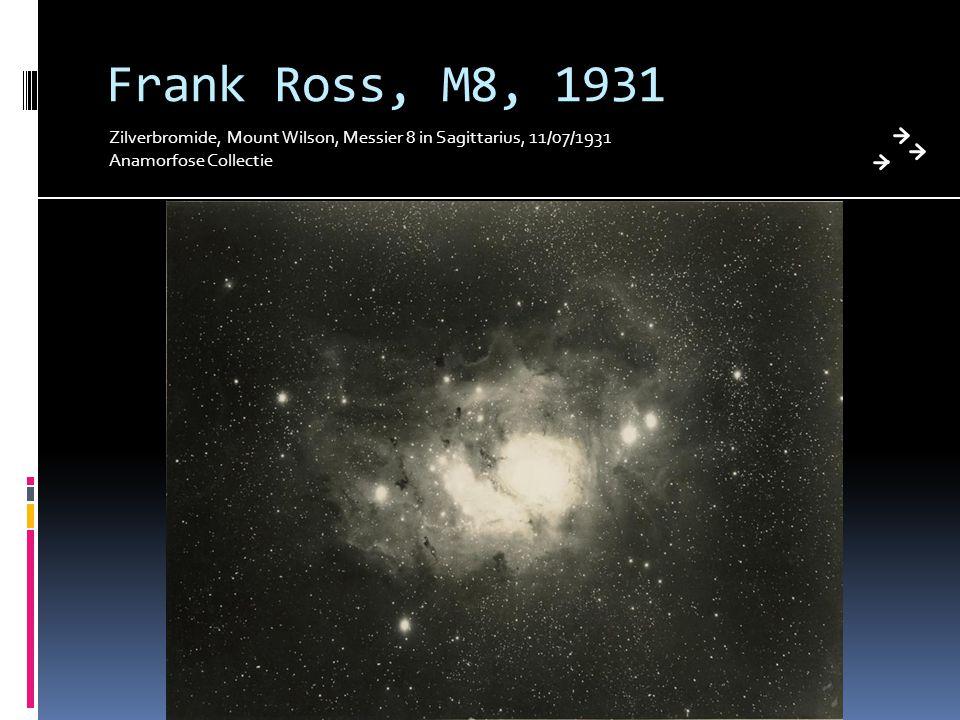 Frank Ross, M8, 1931 Zilverbromide, Mount Wilson, Messier 8 in Sagittarius, 11/07/1931.