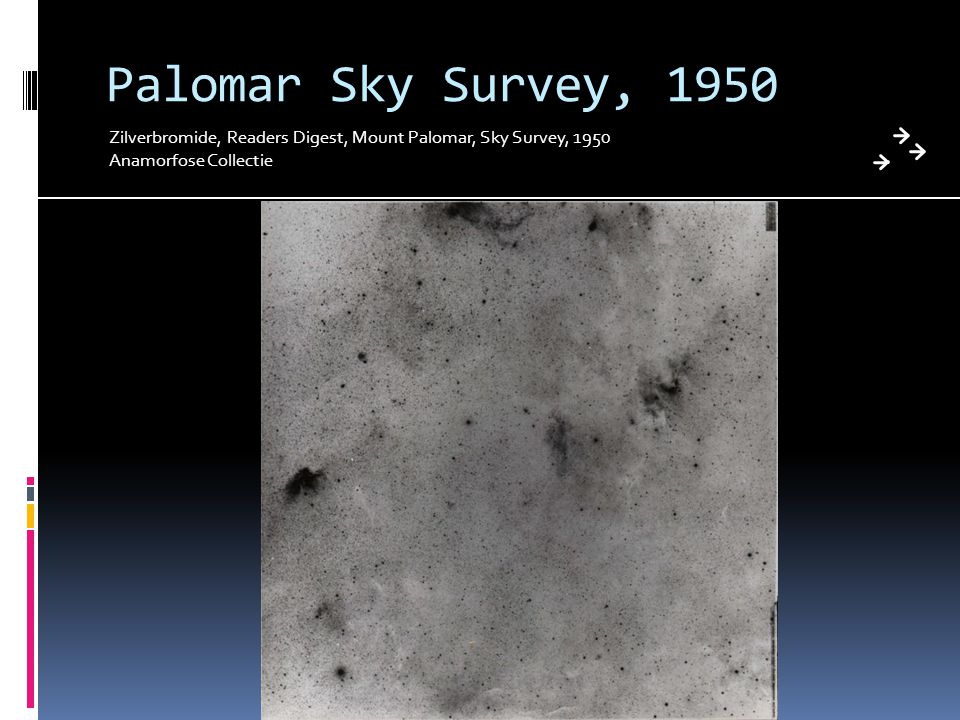 Palomar Sky Survey, 1950 Zilverbromide, Readers Digest, Mount Palomar, Sky Survey, 1950.