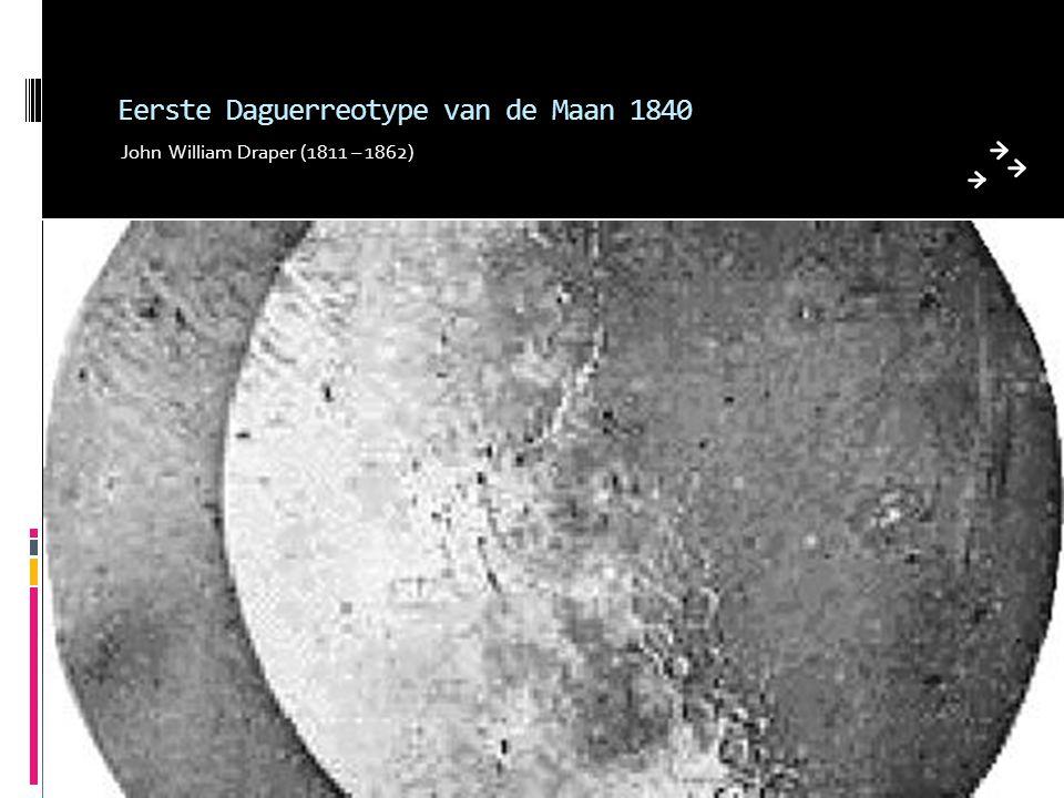 Eerste Daguerreotype van de Maan 1840
